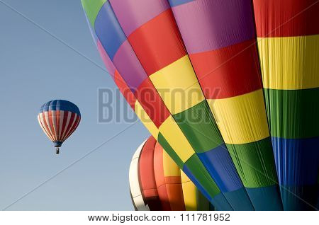 Colorful Hot Air Balloons Launching