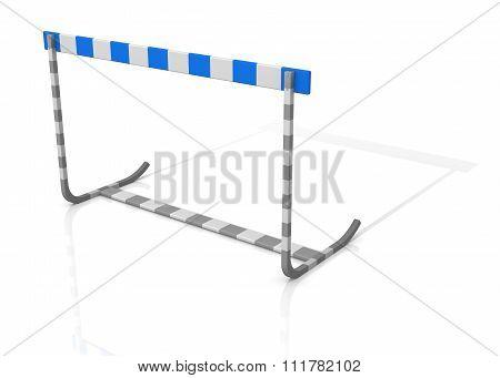Athletics Hurdle Isolated On White Background