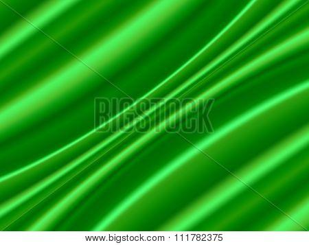 Green Satin Abstract Vector Texture