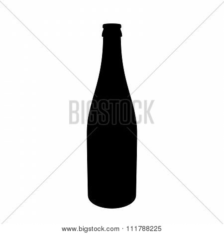 Uncorked Champagne Bottle Alpha/selection Mask Silhouette Isolated On White