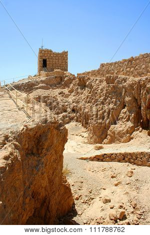 Masada ruin is popular tourist attractions in Israel