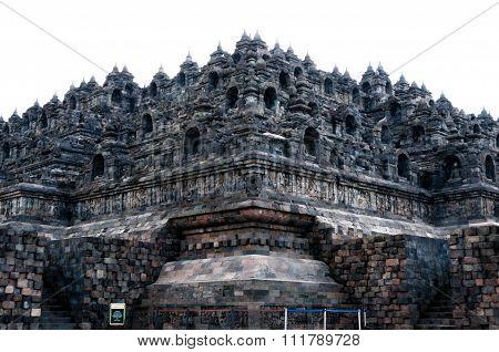 Giant Brick Buddha temple Borobudur