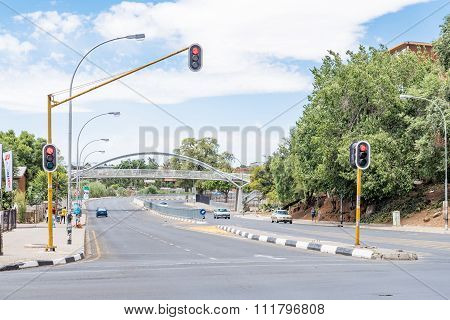 View Of Markgraaff Street In Bloemfontein