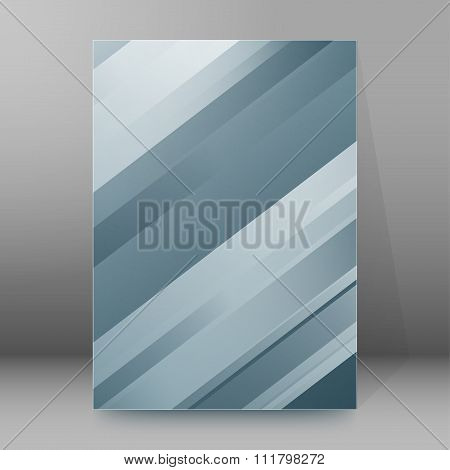 Gray Strip Steel Background Brochure Cover Page Layout