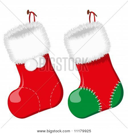Christmas sock. Vector illustration.