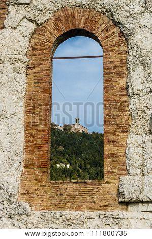 Panorama Of Gubbio, Italy