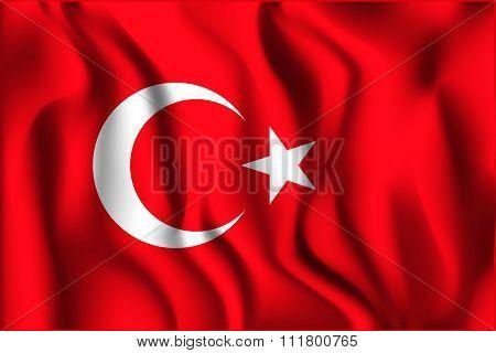 Turkey Variant Flag. Rectangular Shape Icon