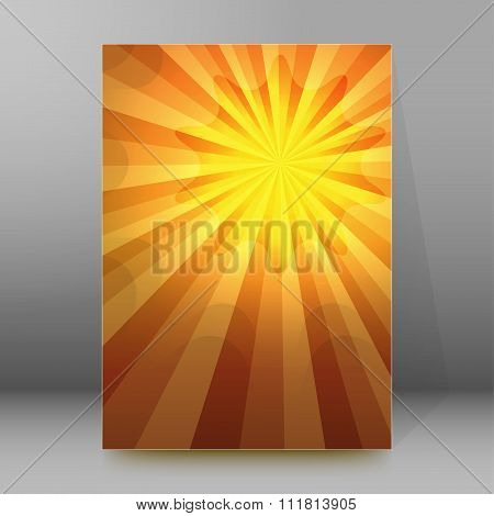 Hot Summer Background Brochure Cover Page Layout