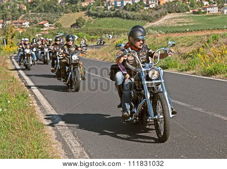 Bikers Riding Harley Davidson