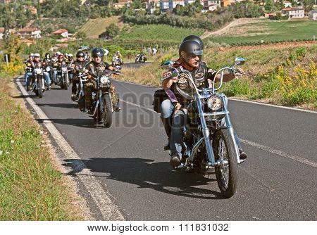 Bikers Riding Harley Davidson