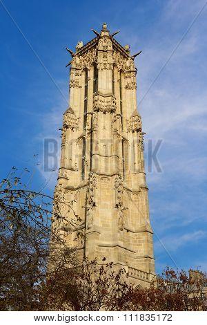 The Tour Saint-Jacques in Paris France UNESCO - the Pilgrim's Road to Santiago de Compostela