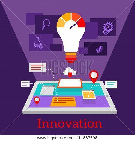 Innovation Digital Flat Design
