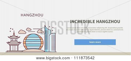 Web Page Chinese City of Incredible Hangzhou