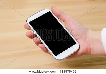 noname cellphone in hand