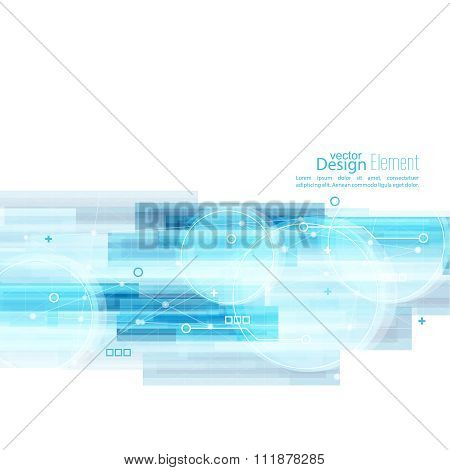 Abstract background with blue stripes.