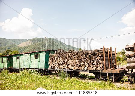 old train in mountains