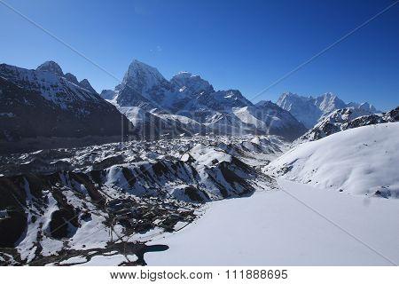 Gokyo Valley And Ngozumba Glacier