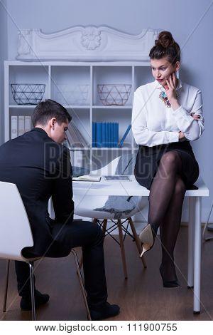 Boss Criticizing Employee