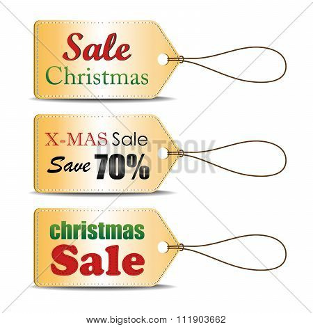 Set of Christmas sale tag, can use for your business or promotion.