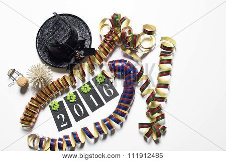 Conecpt For Happy New Year 2016 On White Background