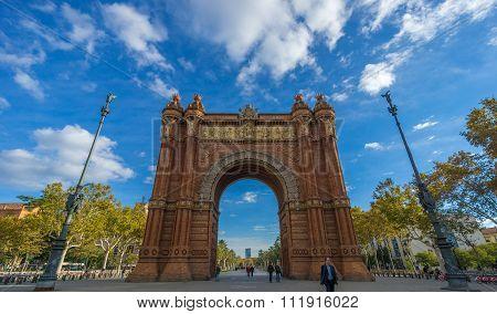 Arc de Triumph in Barcelona