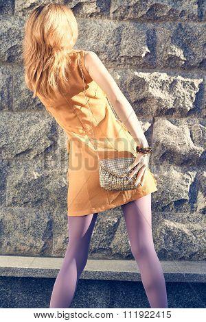 Fashion urban people, woman, outdoor. Lifestyle
