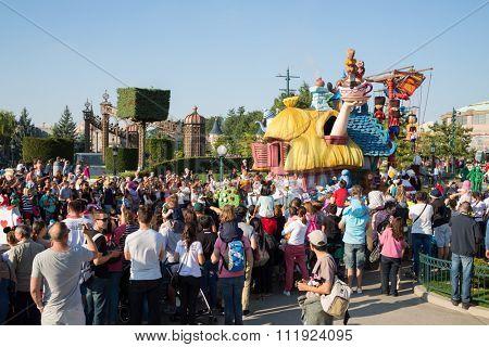 FRANCE, PARIS - 10 SEP, 2014: House of Alice in Wonderland in Disneyland.