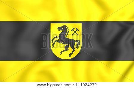 Flag Of Herne, Germany (north Rhine-westphalia)