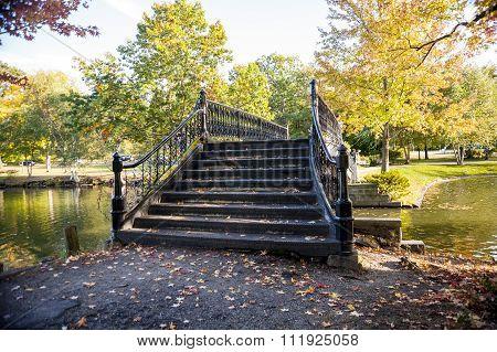 Iron Bridge In Roger Williams Park