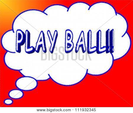 Cartoon PLAY BALL