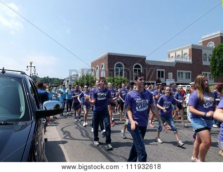 Young Americans in Independence Day Parade