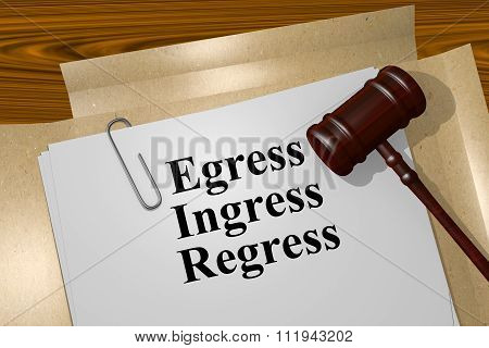 Egress Ingress Regress Concept
