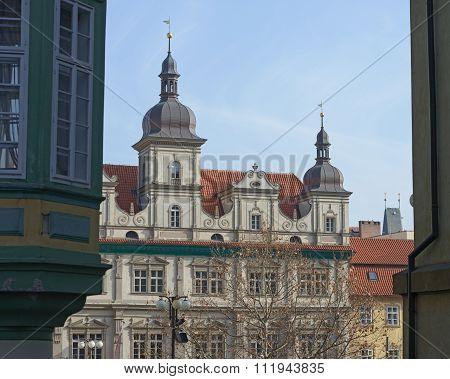 Former Town Hall Of Mala Strana In Prague, Czech Republic.
