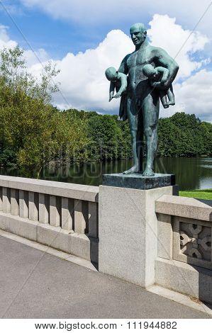 Statue In Frogner Park, Oslo, Norway