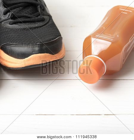 Running Shoes And Orange Juice
