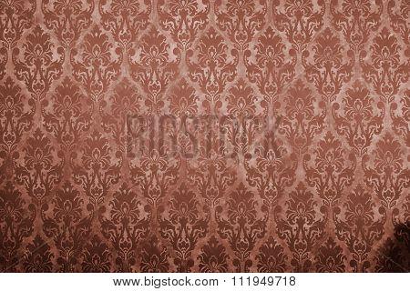 Brown Vintage Pattern On Old Wall