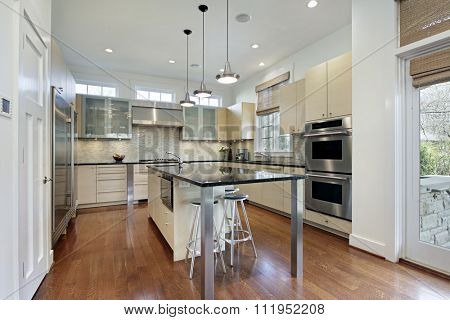 Kitchen in modern home with center island