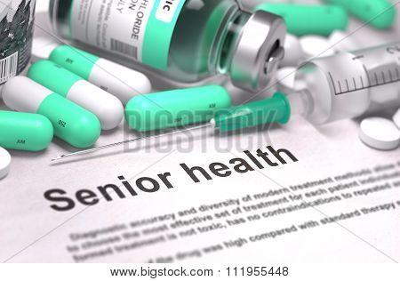 Senior Health - Medical Concept.