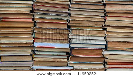 Stacks Of Old Hardback And Paperback Books