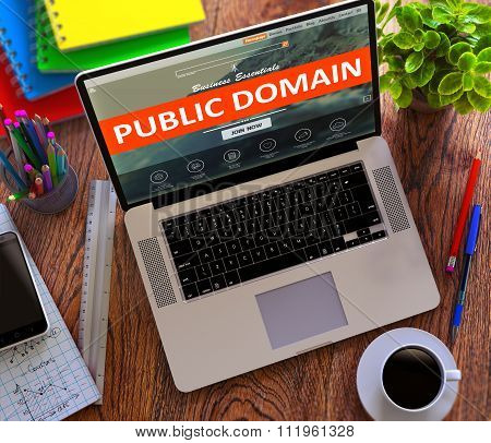 Public Domain. Office Working Concept.