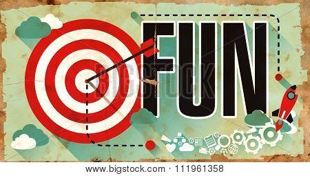 Fun on Grunge Poster.