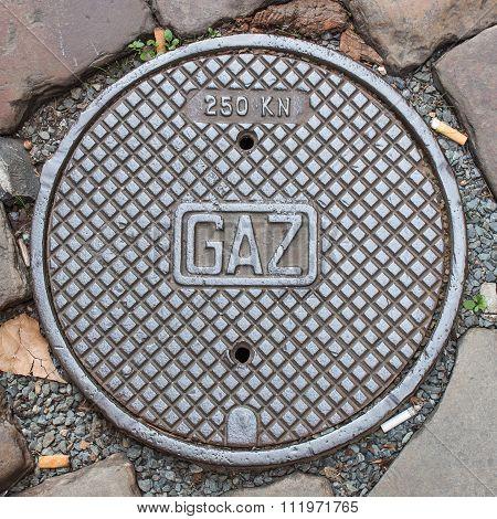 A Gaz Manhole Cover