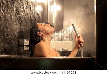 Relaxing shower