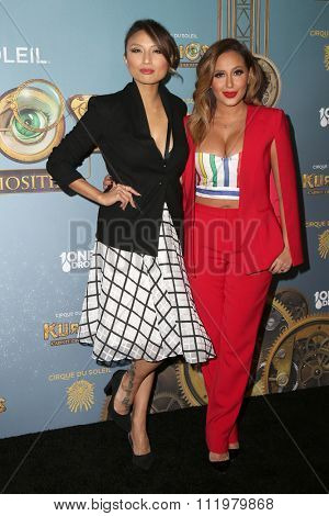 LOS ANGELES - DEC 09:  Jeannie Mai, Adrienne Bailon at the Cirque Du Soleil's