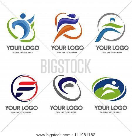 Letter F logo sport