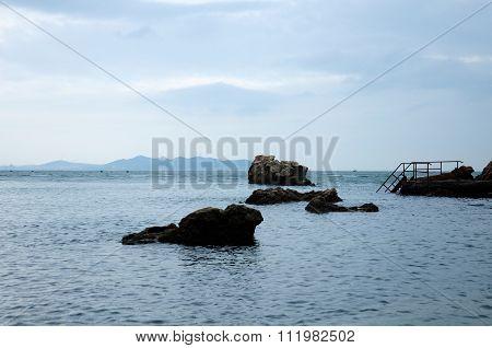 Dock on Bohai Sea China
