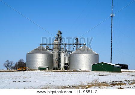 Grain Elevators in Winter