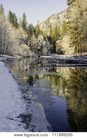 Merced River in winter