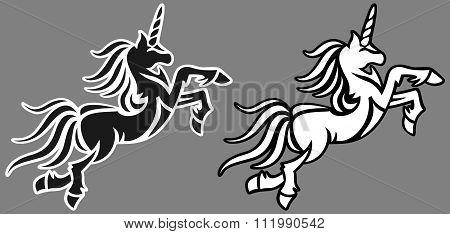 animal abstract unicorn vector illustration