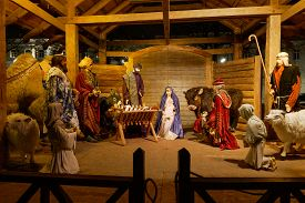 Outdoors Nativity Setting